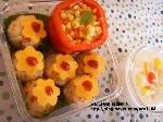 꽃치즈주먹밥 도시락
