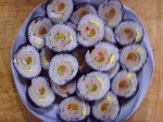 구멍 뚫린  어묵 김밥